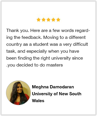 Student review Meghna Damodaran