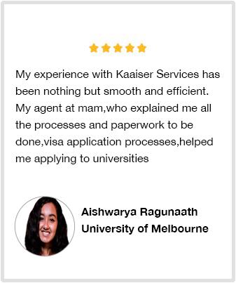 Student review Aishwarya Ragunaath